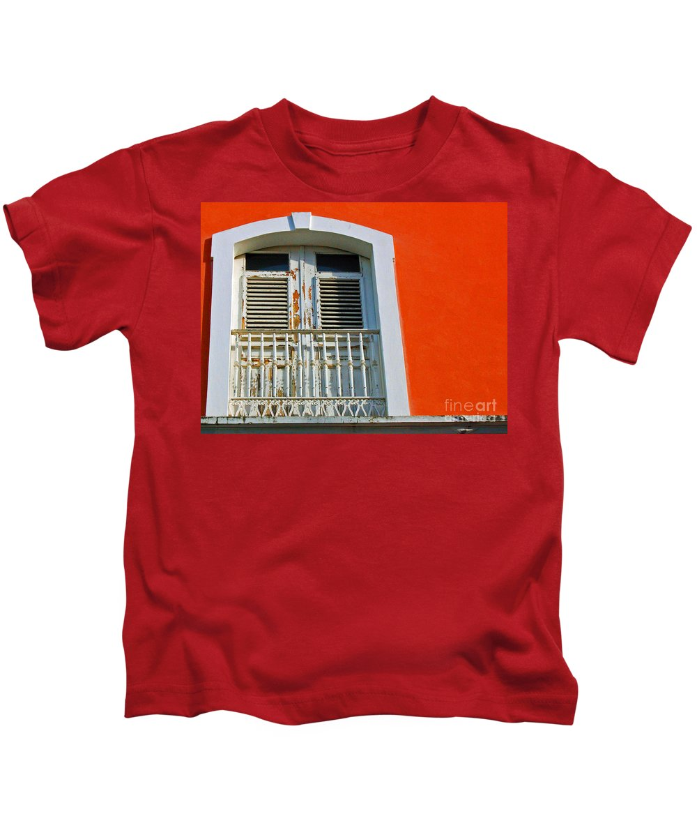 Shutters Kids T-Shirt featuring the photograph Peel An Orange by Debbi Granruth