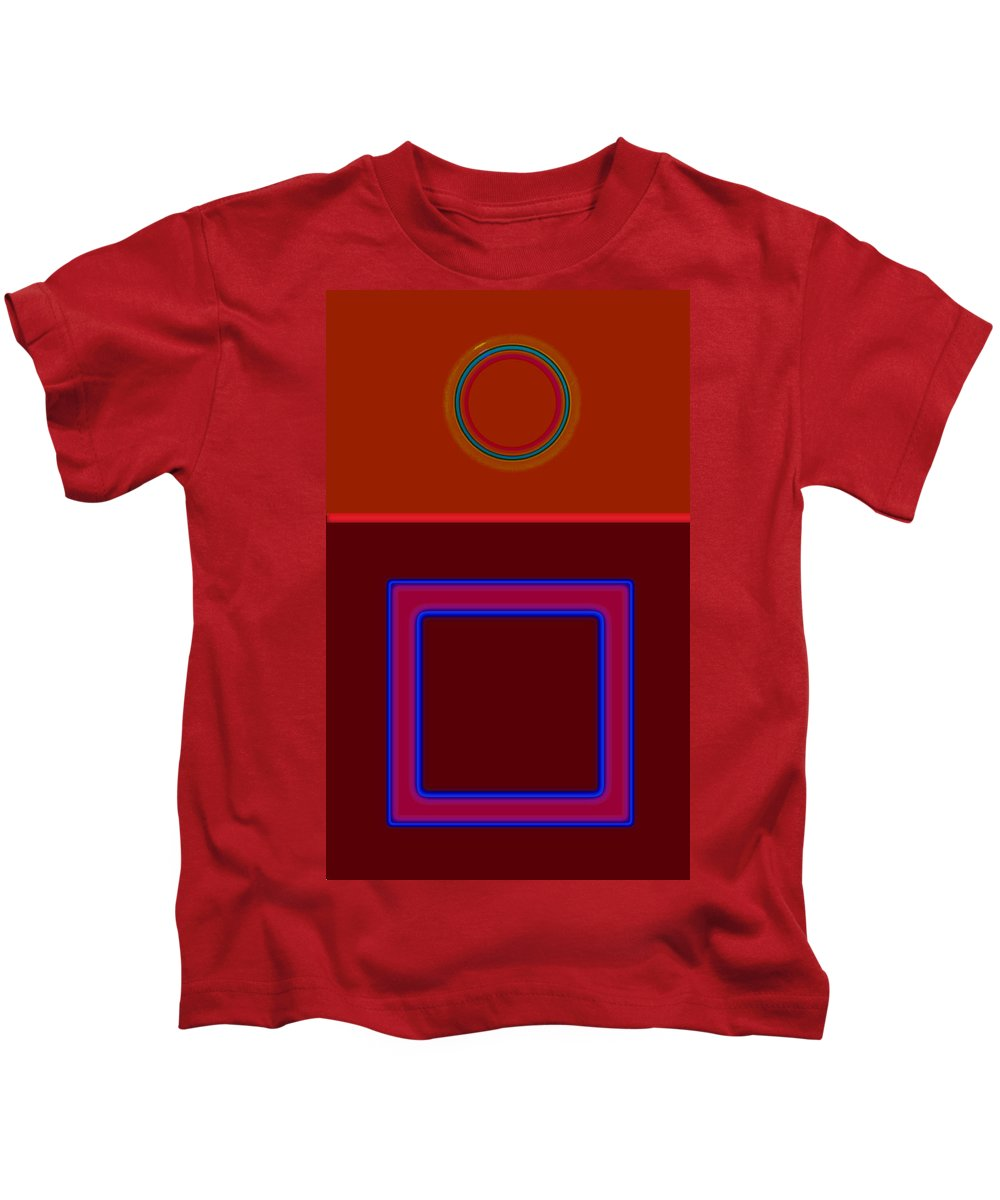 Classical Kids T-Shirt featuring the painting Piazza by Charles Stuart