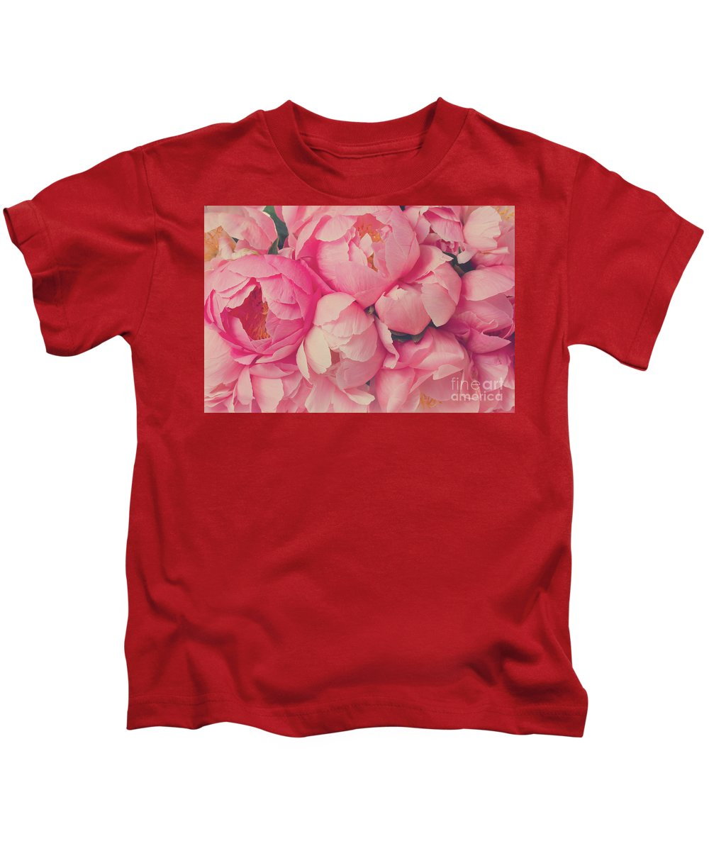Peony Kids T-Shirt featuring the photograph Everything Is Pink by Anastasy Yarmolovich