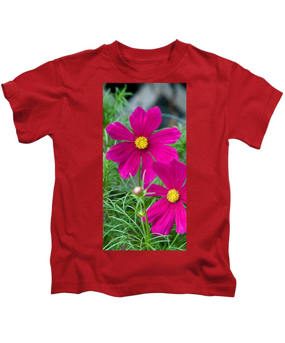 Pink Kids T-Shirt featuring the photograph Pink Flower by Michael Bessler