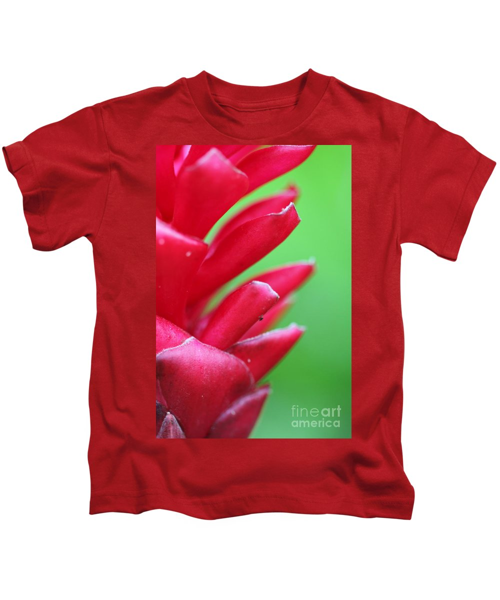 Ginger Kids T-Shirt featuring the photograph Pink Ginger by Nadine Rippelmeyer
