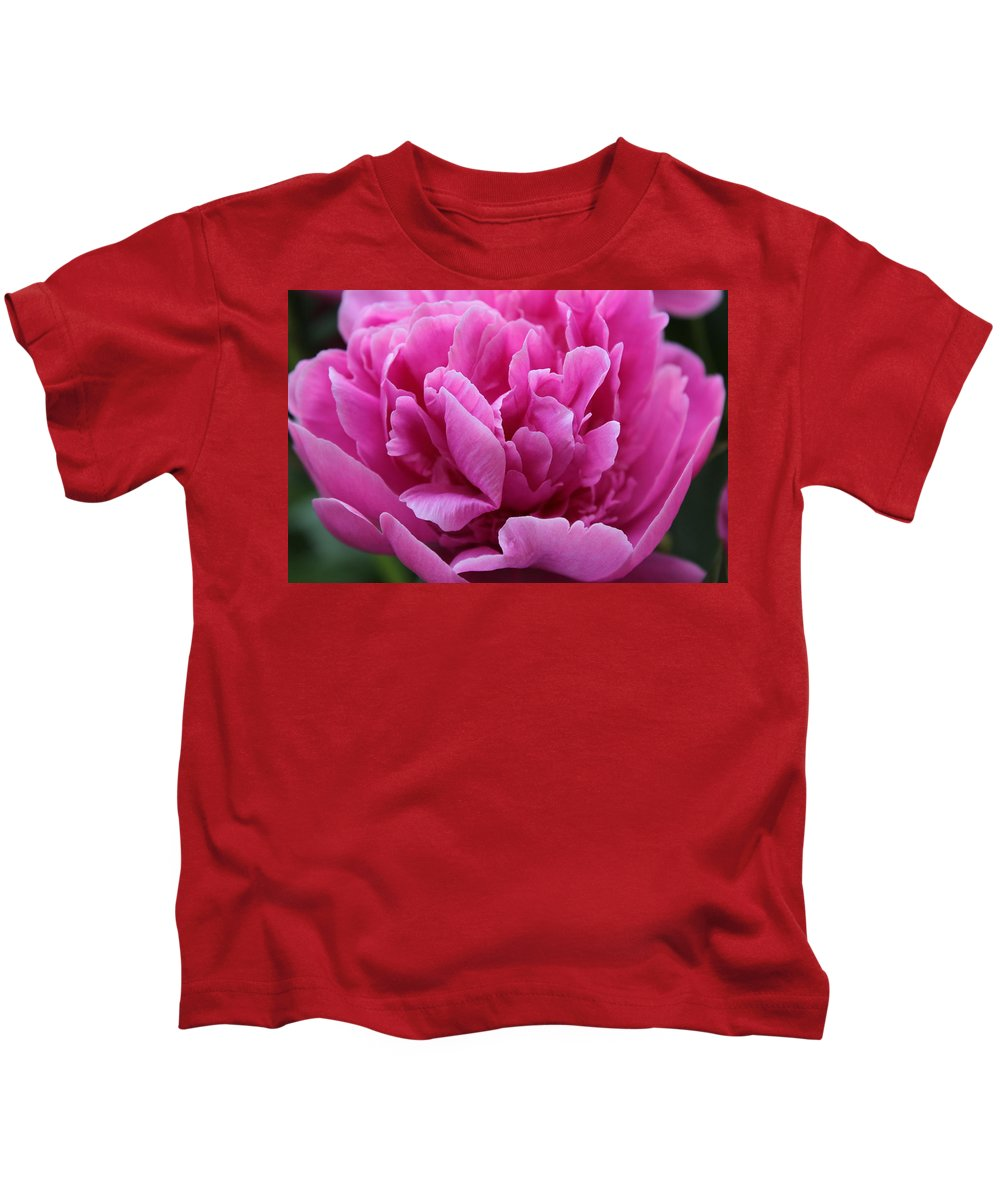 Pink Kids T-Shirt featuring the photograph Pink Peony by Carolyn Jacob