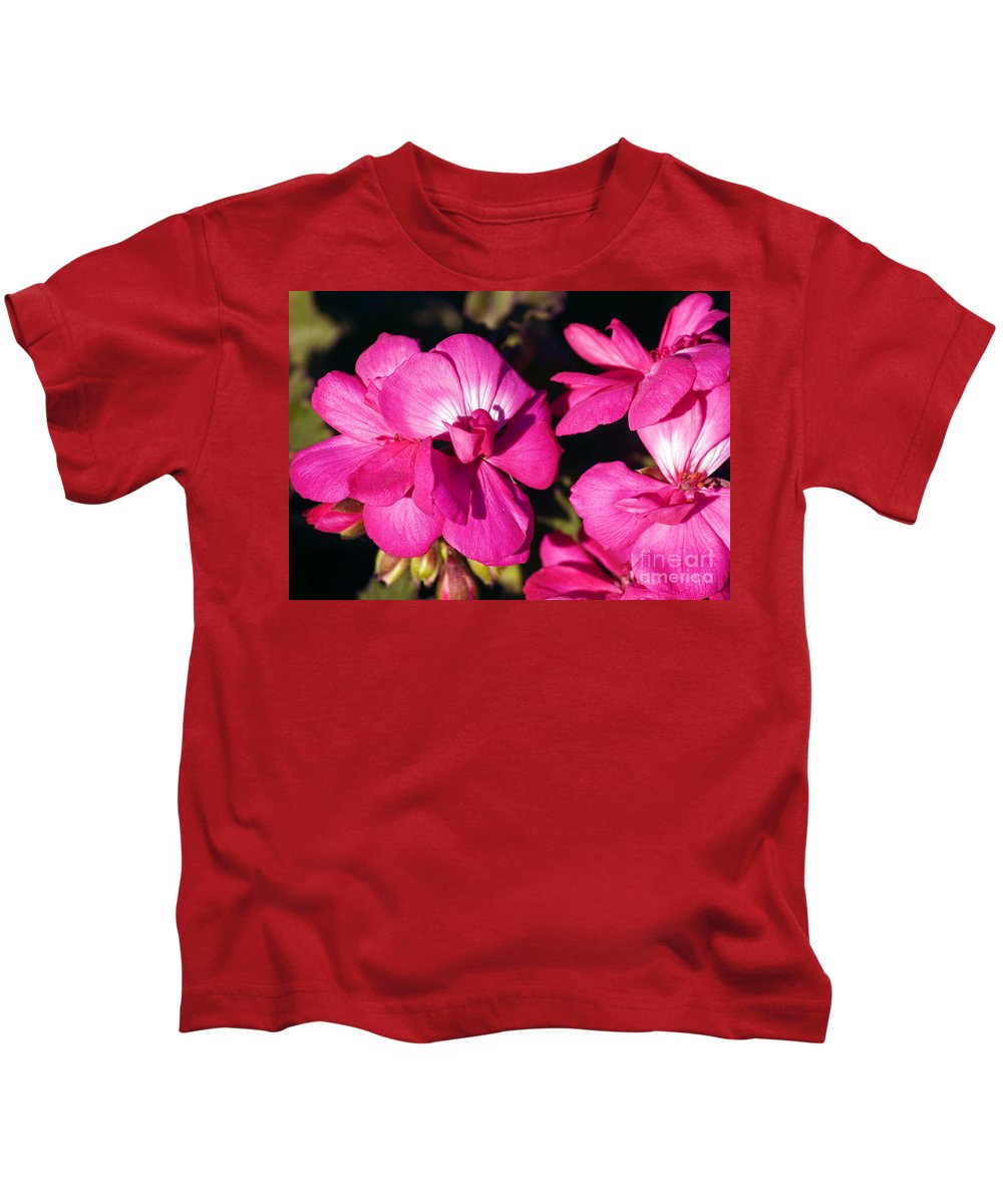 Clay Kids T-Shirt featuring the photograph Pink Spring Florals by Clayton Bruster