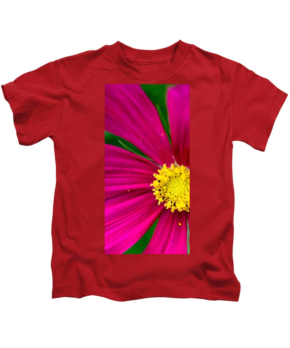Plink Kids T-Shirt featuring the photograph Plink Flower Closeup by Michael Bessler