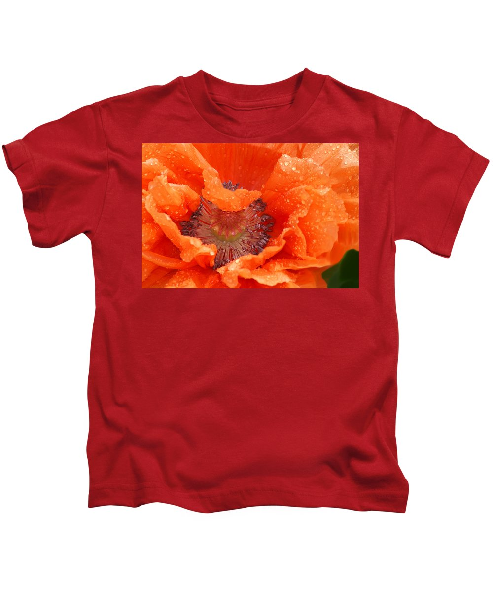 Orange Kids T-Shirt featuring the photograph Poppy by Heather Coen