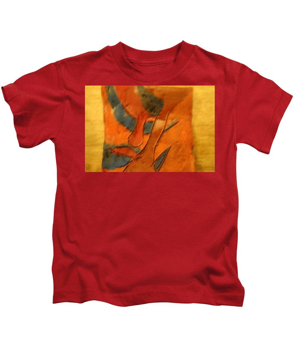 Jesus Kids T-Shirt featuring the ceramic art Pose - Tile by Gloria Ssali