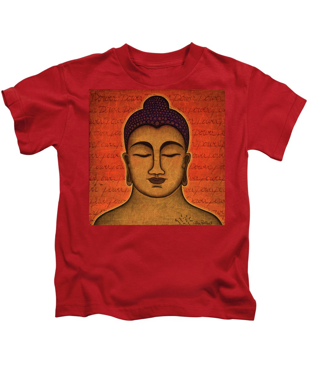 Buddha Kids T-Shirt featuring the painting Power by Gloria Rothrock