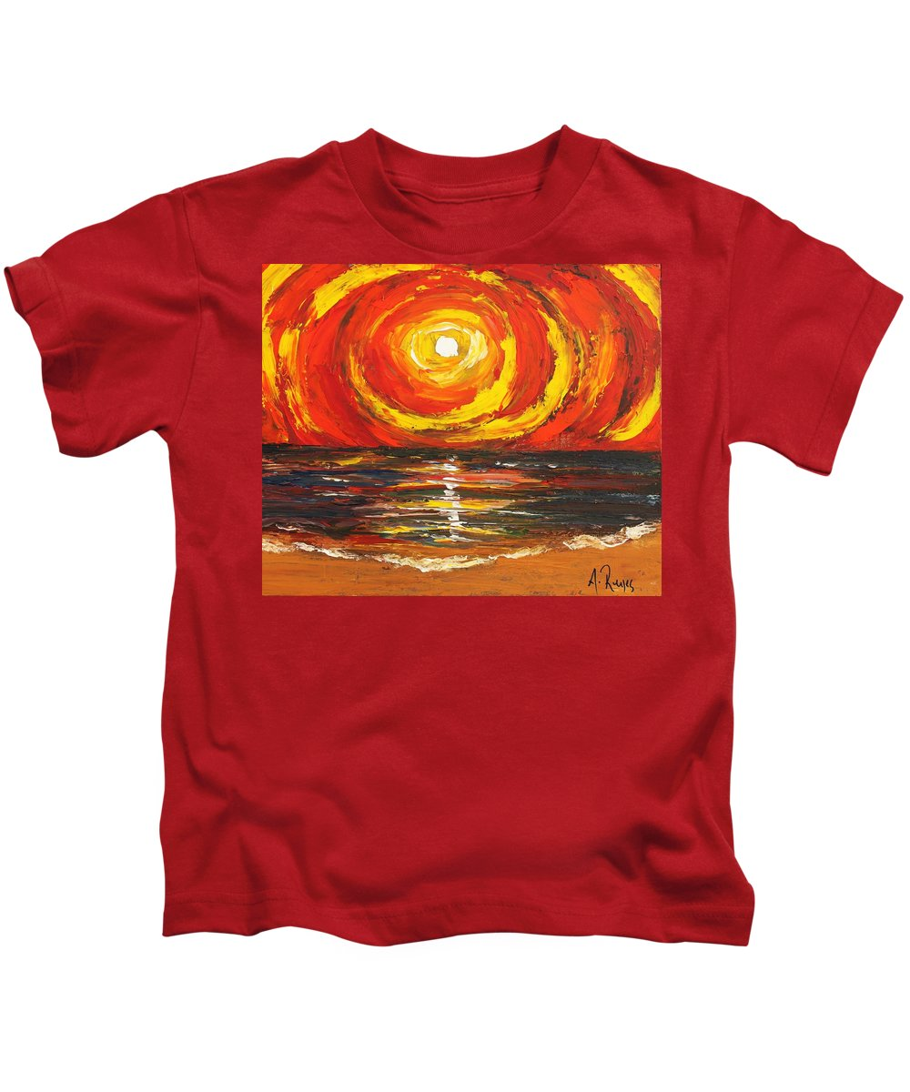 Power Kids T-Shirt featuring the painting Power Source by Angel Reyes