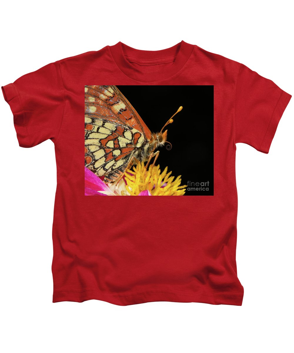 Butterfly Kids T-Shirt featuring the photograph Profile Of A Butterfly by Mimi Ditchie