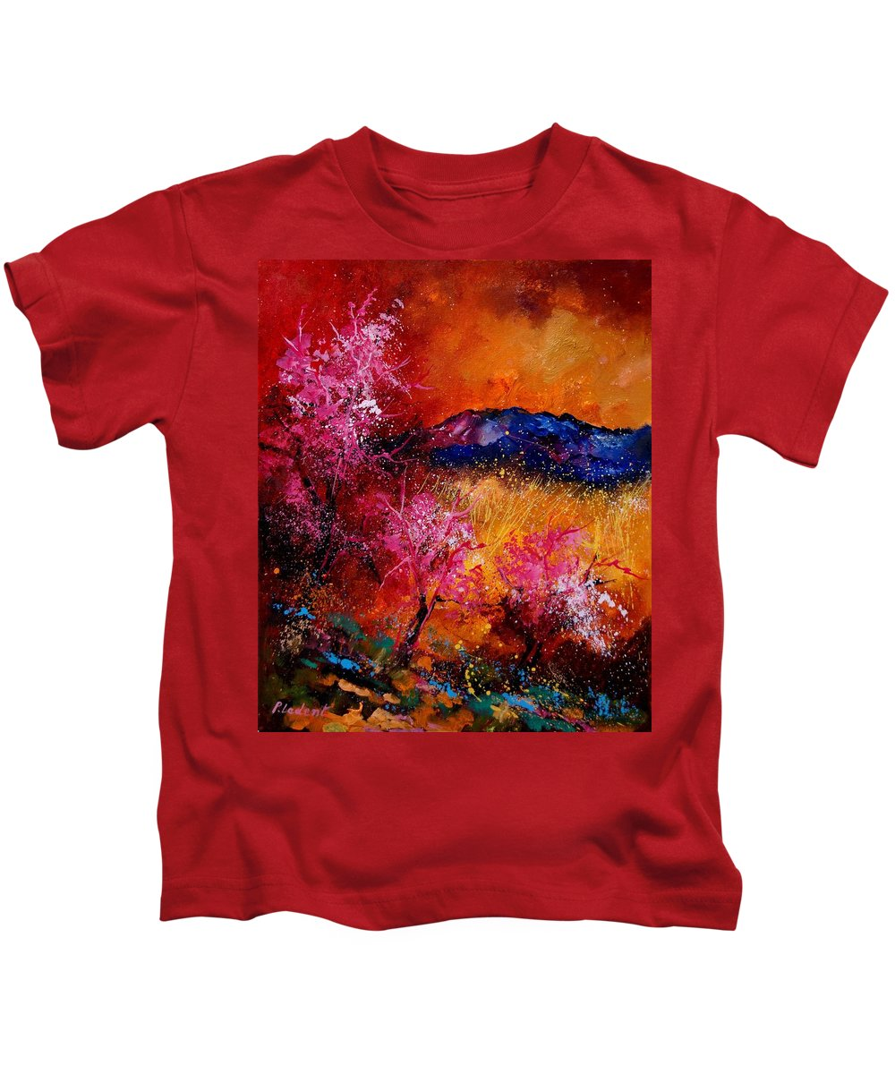 Provence Kids T-Shirt featuring the painting Provence560908 by Pol Ledent