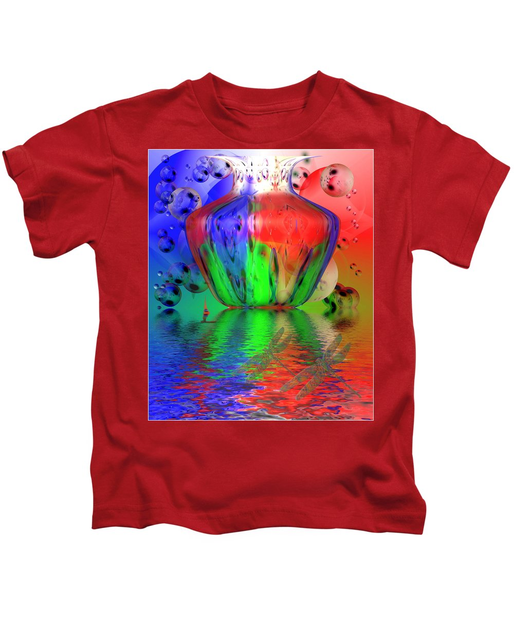 Laminate Kids T-Shirt featuring the photograph Psychedelic Flight by Joyce Dickens