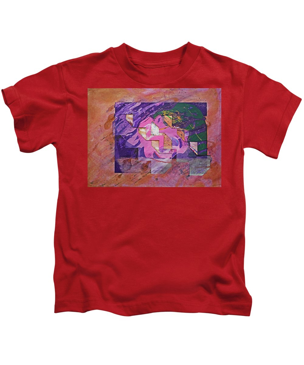 Psycho Kids T-Shirt featuring the painting Psycho Pattern by Charles Stuart