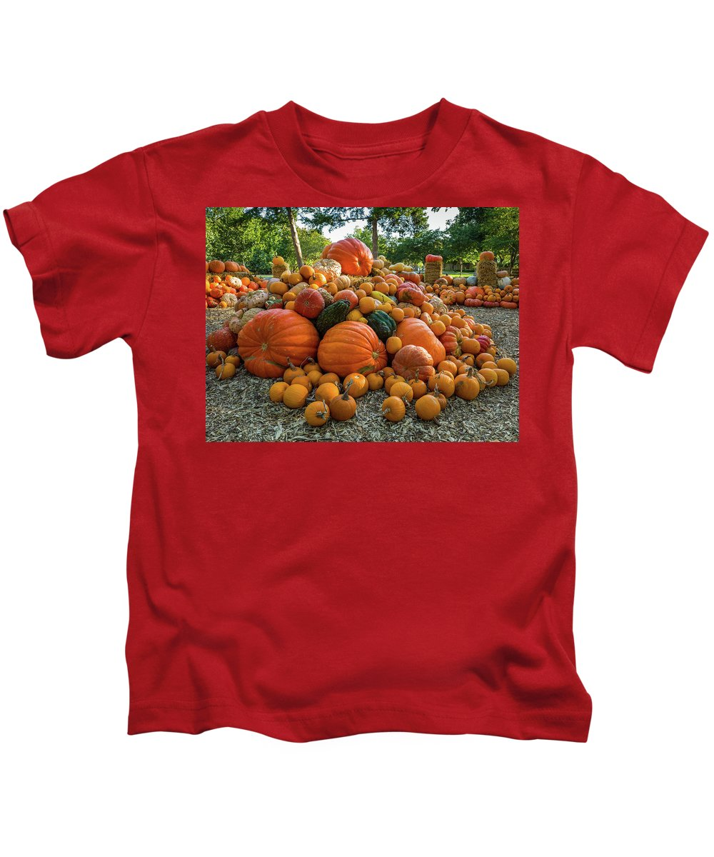 Kids T-Shirt featuring the photograph Pumpkin Patch by Rod Lindley