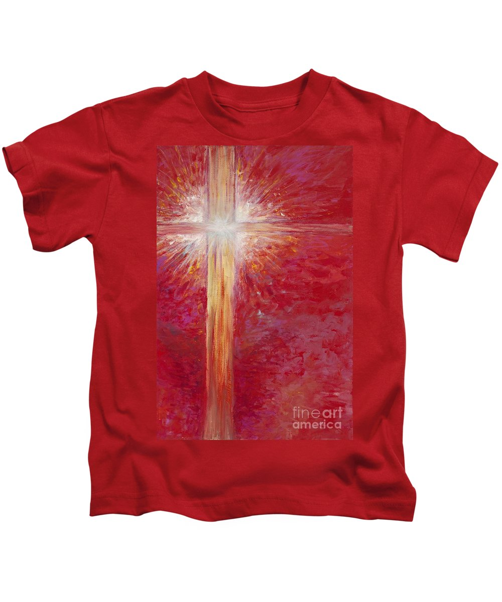 Light Kids T-Shirt featuring the painting Pure Light by Nadine Rippelmeyer
