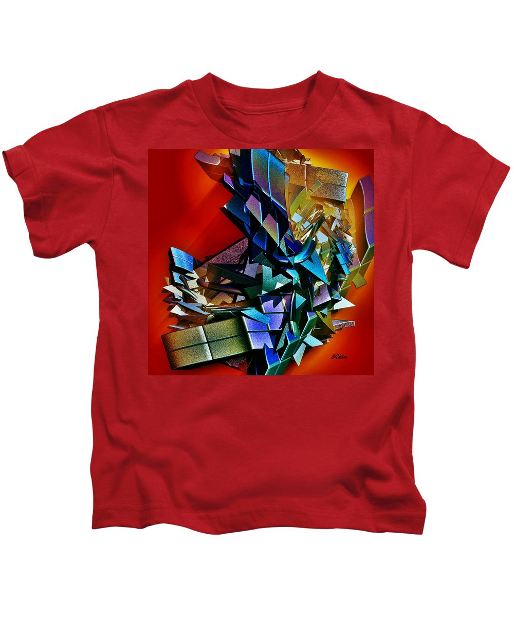 Shapes Kids T-Shirt featuring the digital art Puzzled by Sara Raber