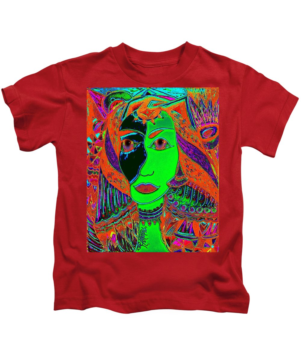 Queen Of The Nile Kids T-Shirt featuring the painting Queen Of The Nile by Natalie Holland
