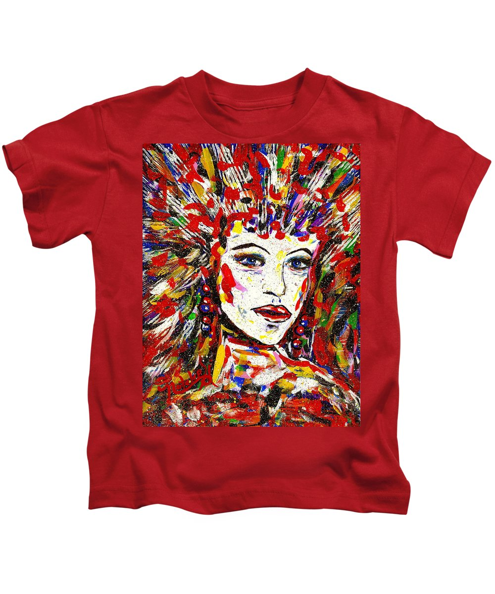 Abstract Art Kids T-Shirt featuring the painting Rainbow by Natalie Holland