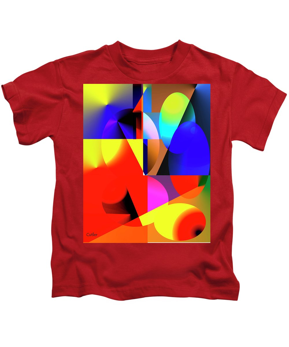 Abstract Kids T-Shirt featuring the digital art Read Me by Betsy Knapp