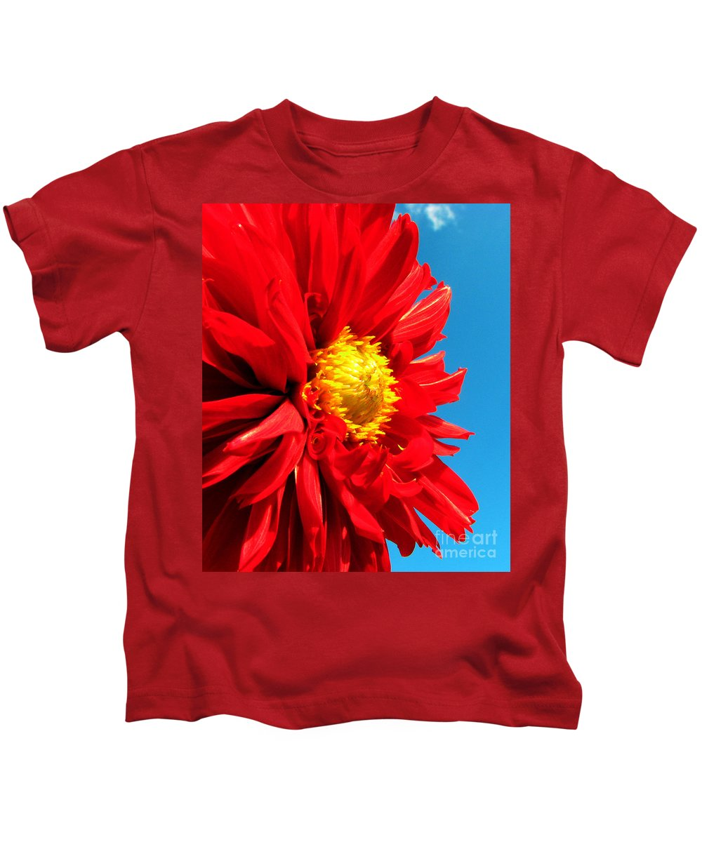 Dhalia Kids T-Shirt featuring the photograph Ready For The Future by Amanda Barcon