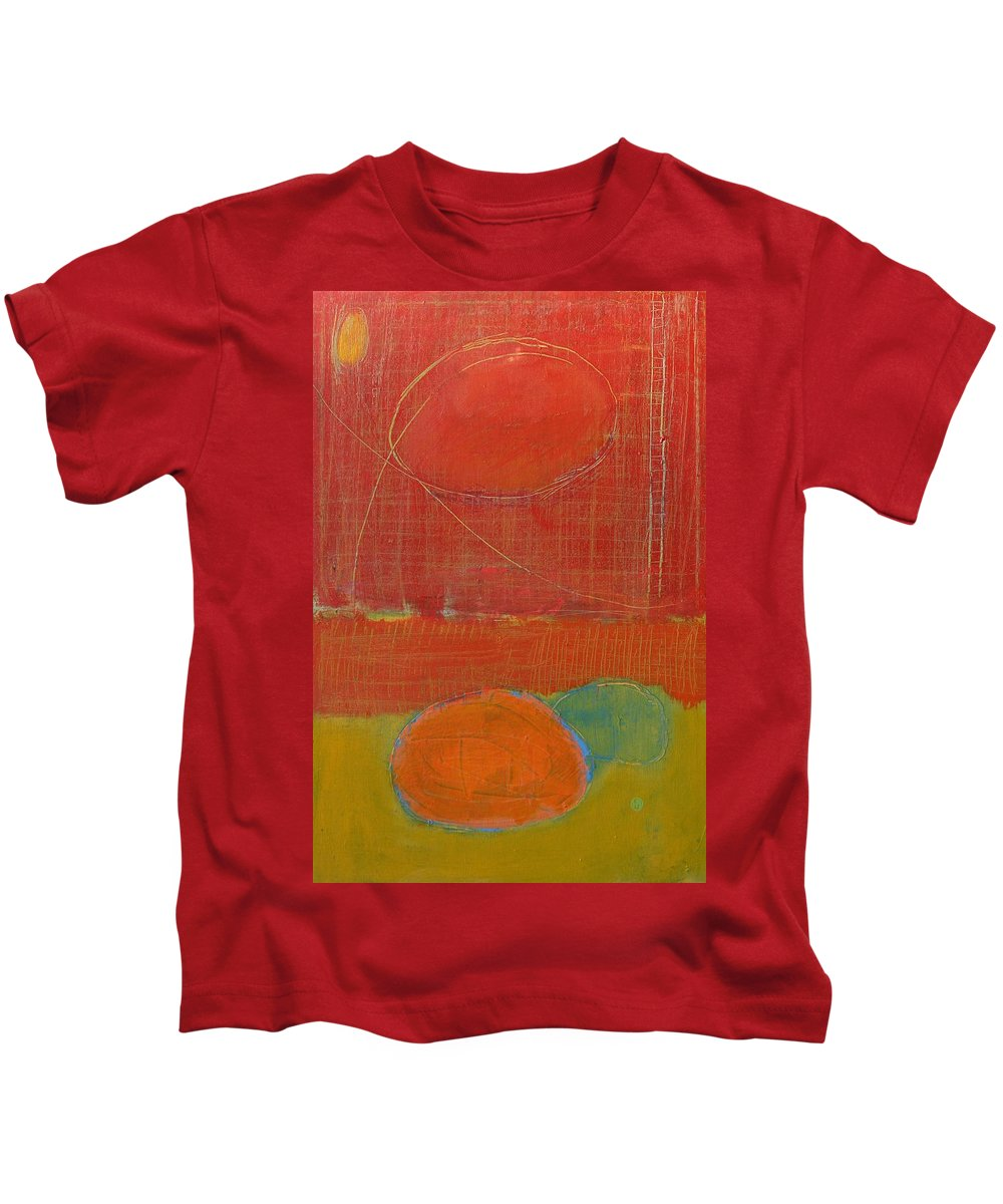 Abstract Kids T-Shirt featuring the painting Rebirth by Habib Ayat