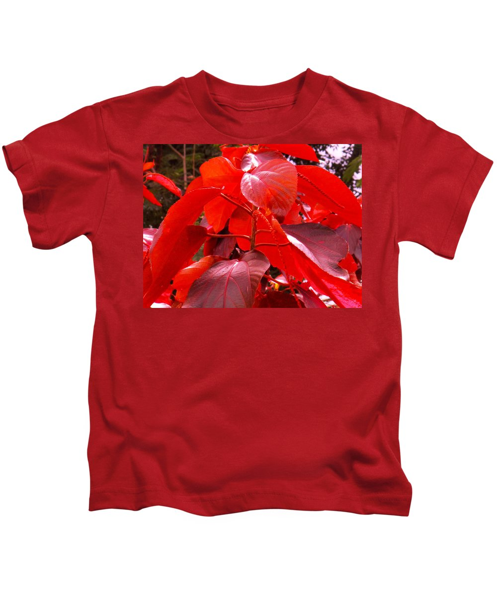 Red Kids T-Shirt featuring the photograph Red by Ian MacDonald