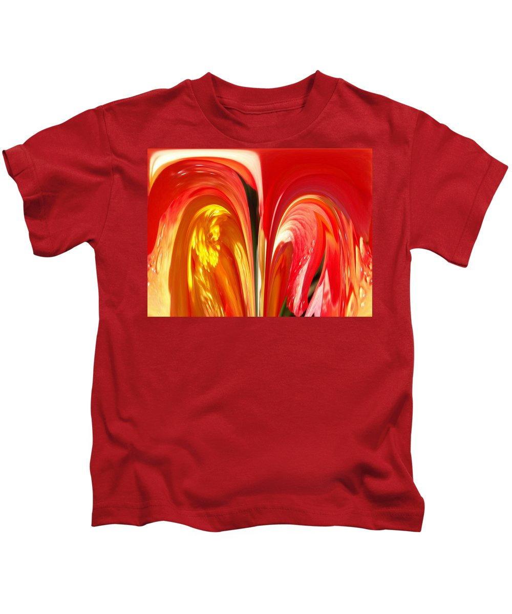 Flowers Kids T-Shirt featuring the photograph Red N Yellow Flowers 4 by Tim Allen