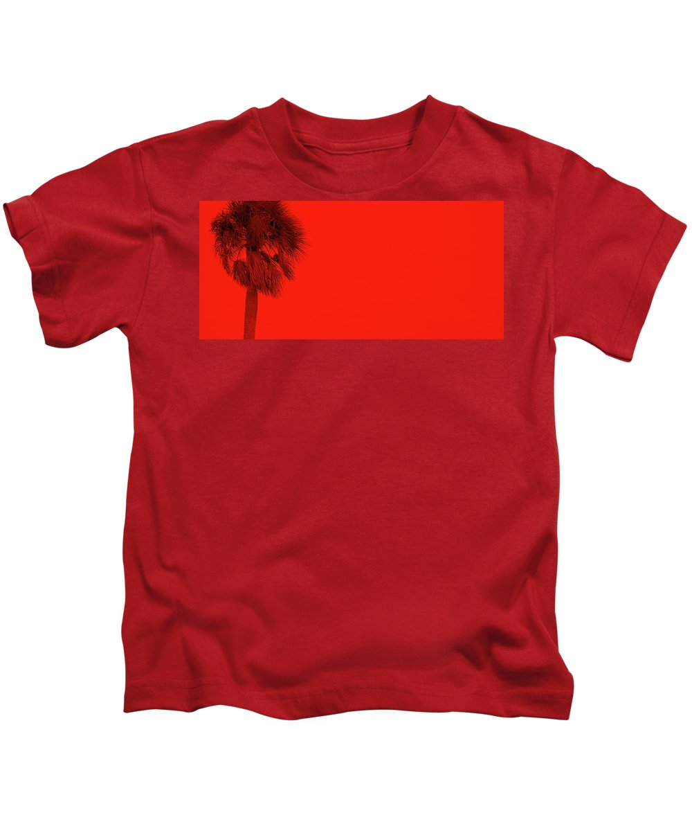 Landscape Kids T-Shirt featuring the photograph Red Palm by Ed Smith