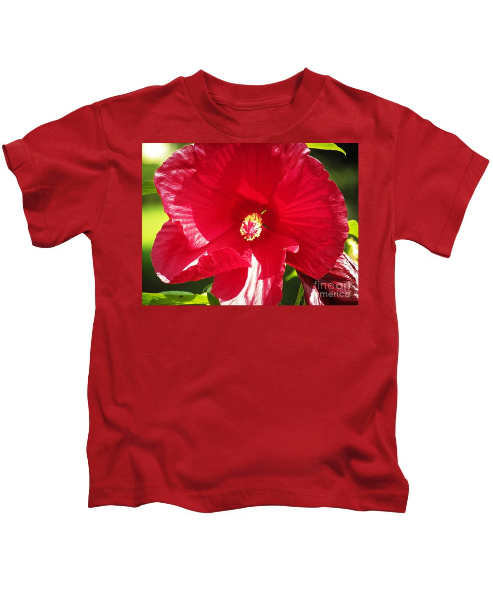 Flower Kids T-Shirt featuring the photograph Red by Robert Knight