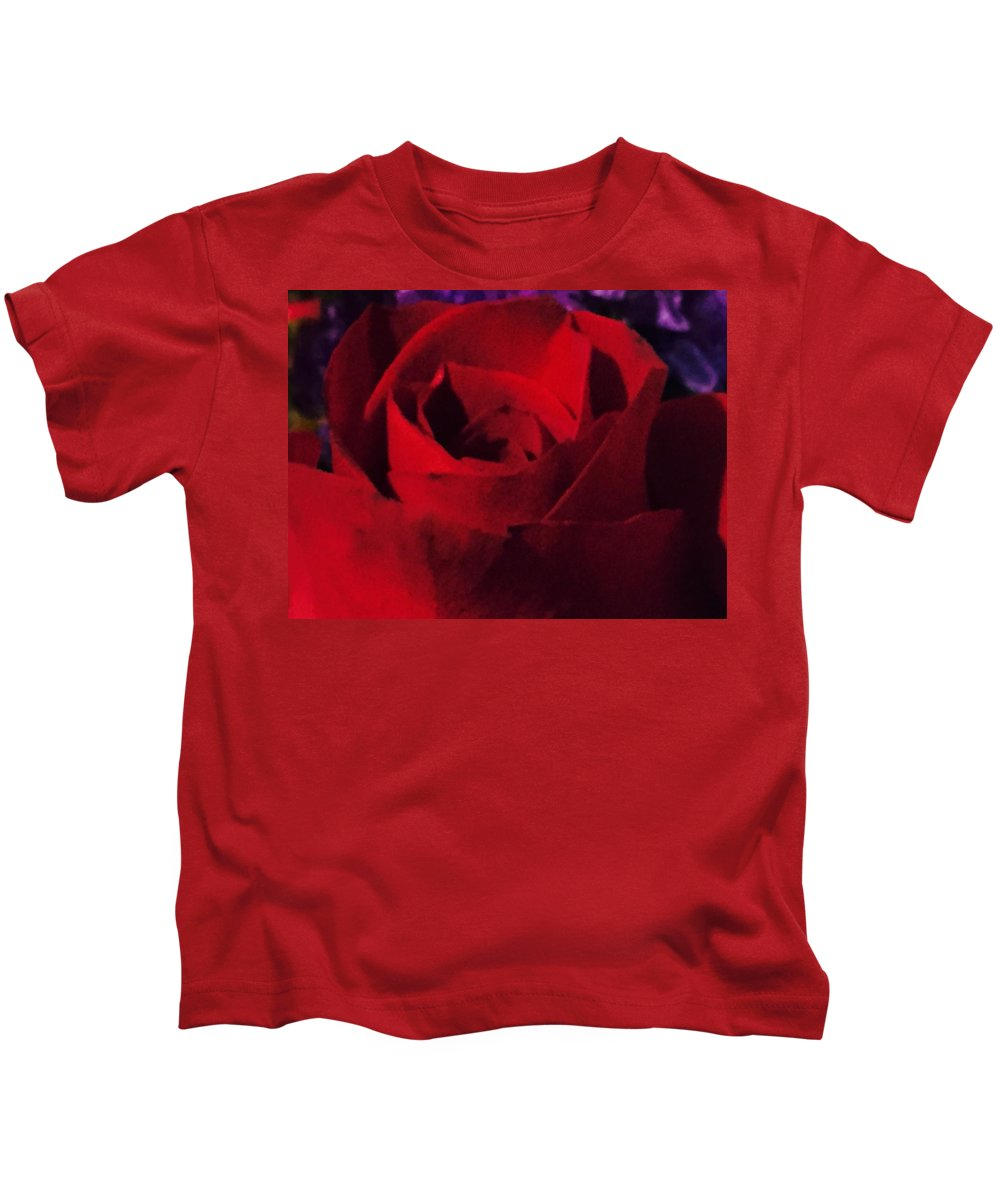 Flower Kids T-Shirt featuring the photograph Red Rose by David Martin Stevens