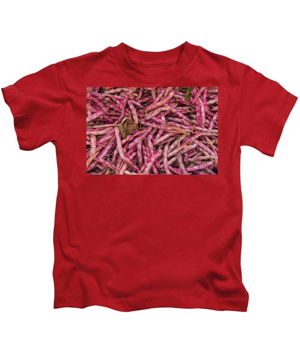 Merkezi Gokceada Island Kids T-Shirt featuring the photograph Red Spotted Pearly Beans by Bob Phillips