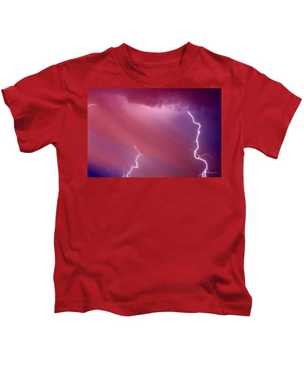 Sky Kids T-Shirt featuring the photograph Red Storm by Anthony Jones