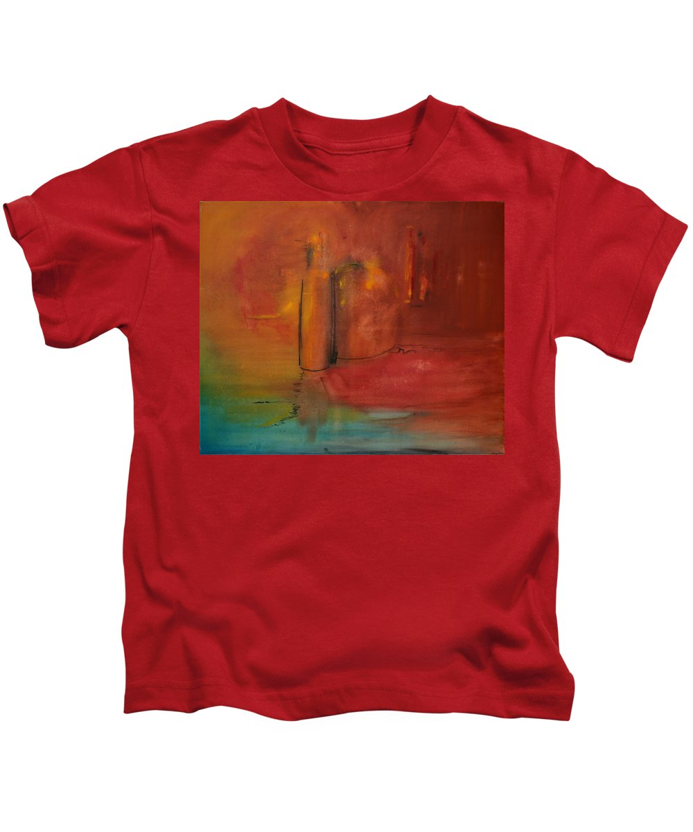 Still Kids T-Shirt featuring the painting Reflection Of Still Life by Jack Diamond