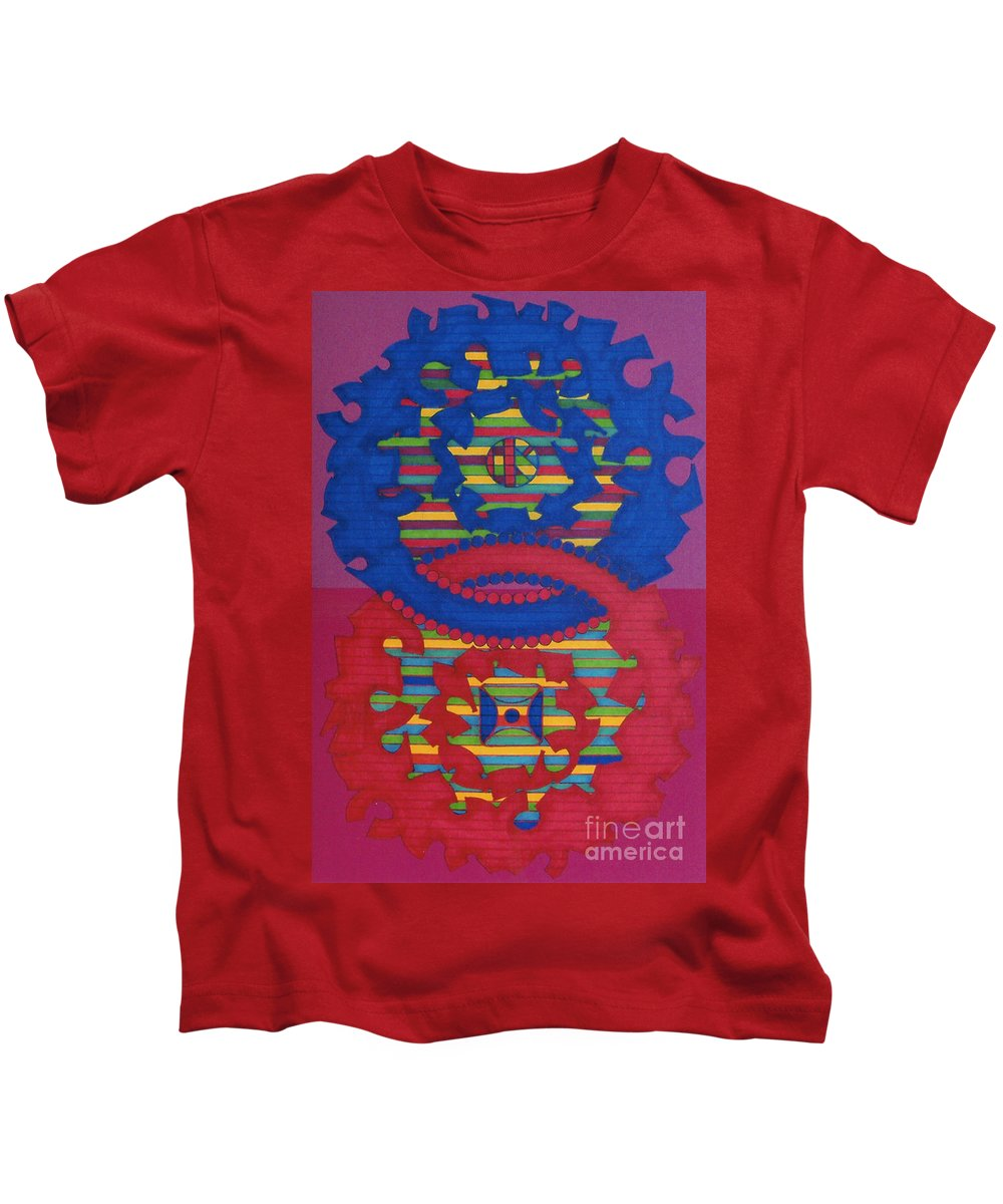Purple Haze Kids T-Shirt featuring the drawing Rfb0418 by Robert F Battles