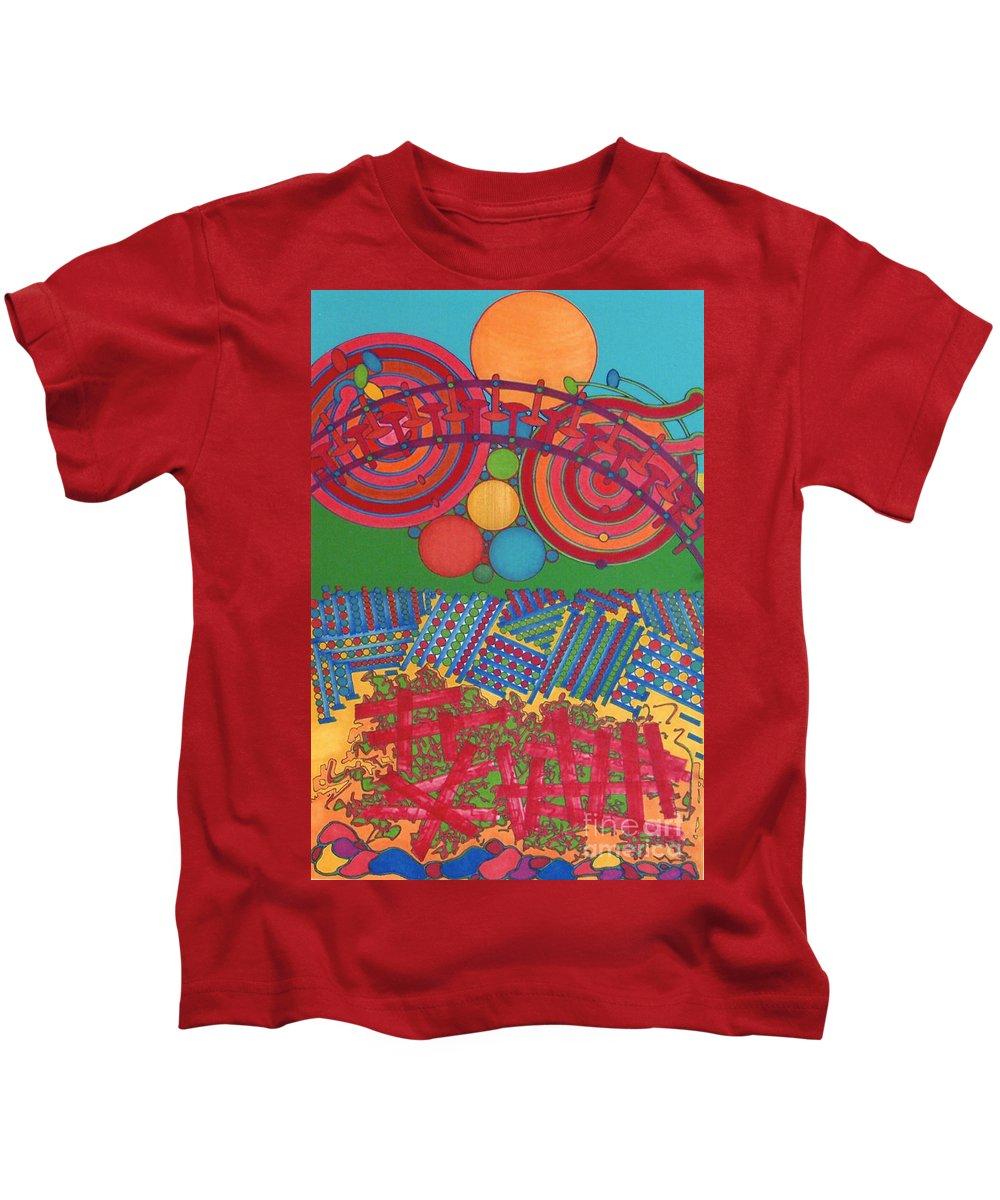 Sun Rise Reflect Kids T-Shirt featuring the drawing Rfb0426 by Robert F Battles