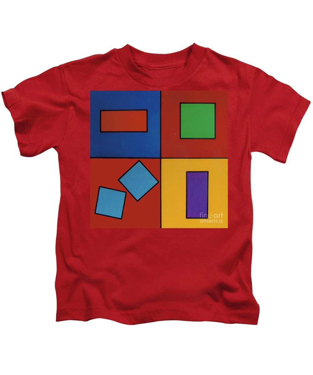Rectangle Kids T-Shirt featuring the drawing Rfb0618 by Robert F Battles