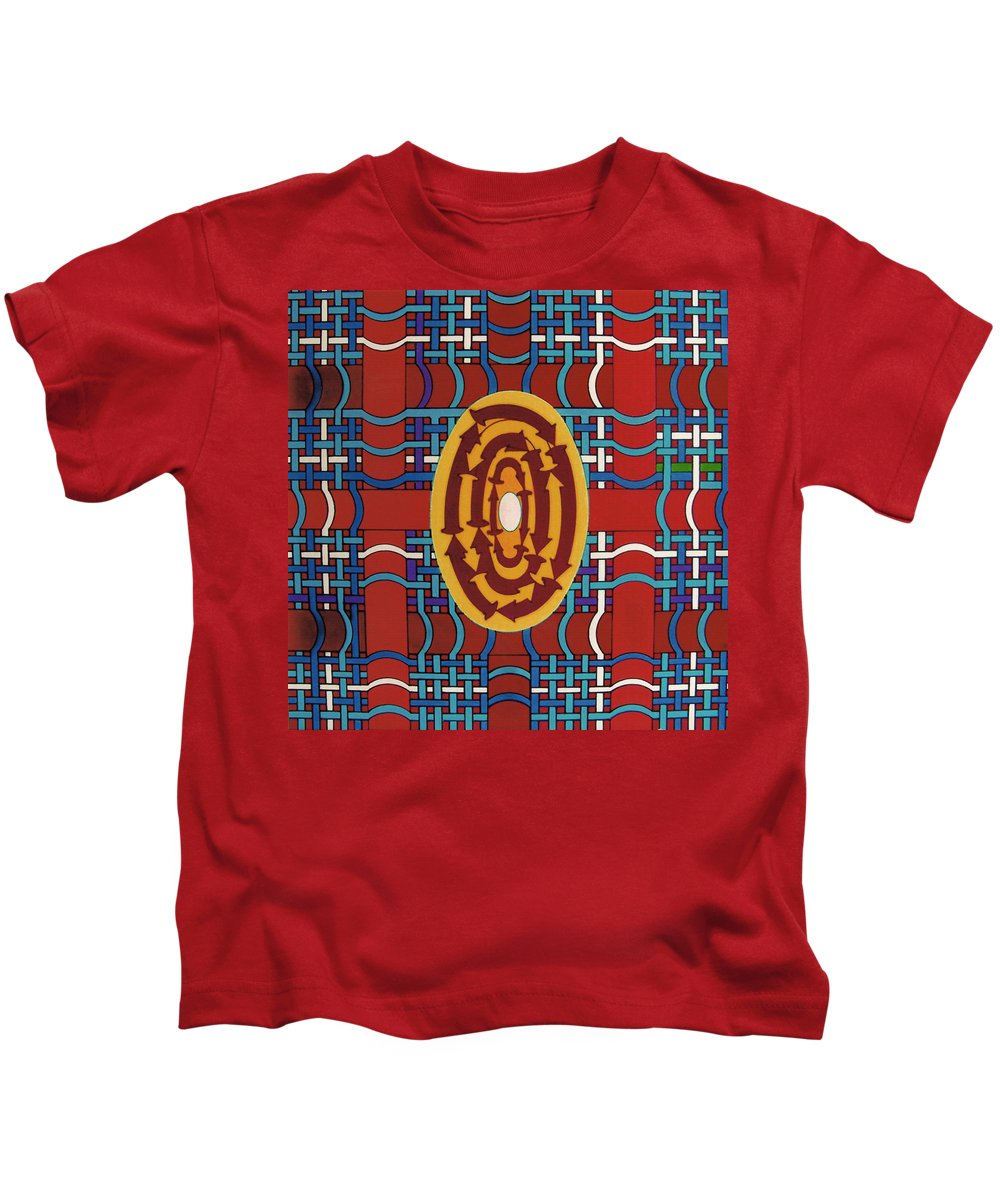 Plaid Kids T-Shirt featuring the drawing Rfb0809 by Robert F Battles