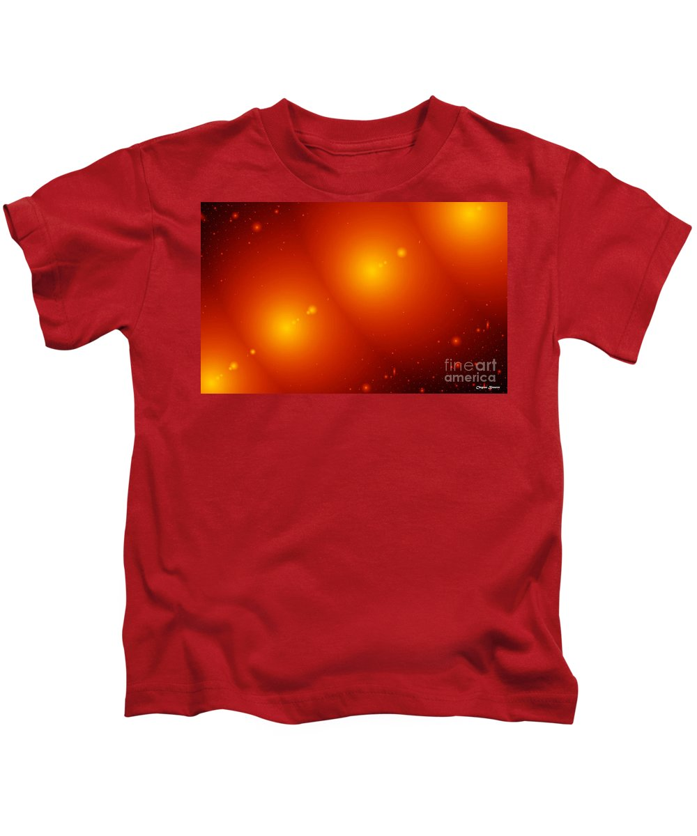 Clay Kids T-Shirt featuring the digital art Rings Of Saturn by Clayton Bruster