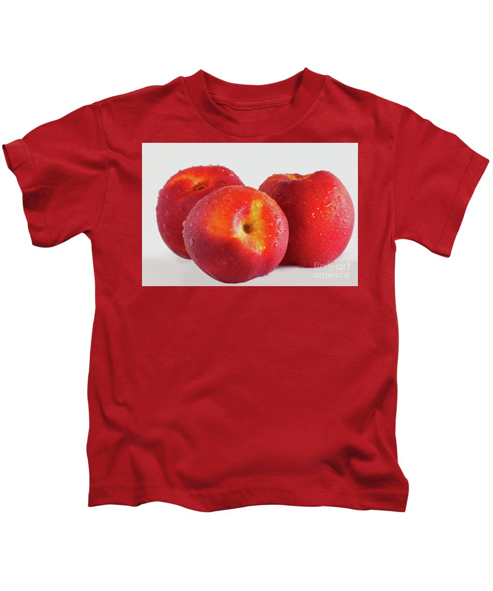 Nectarines Kids T-Shirt featuring the photograph Ripe And Ready by Regina Geoghan