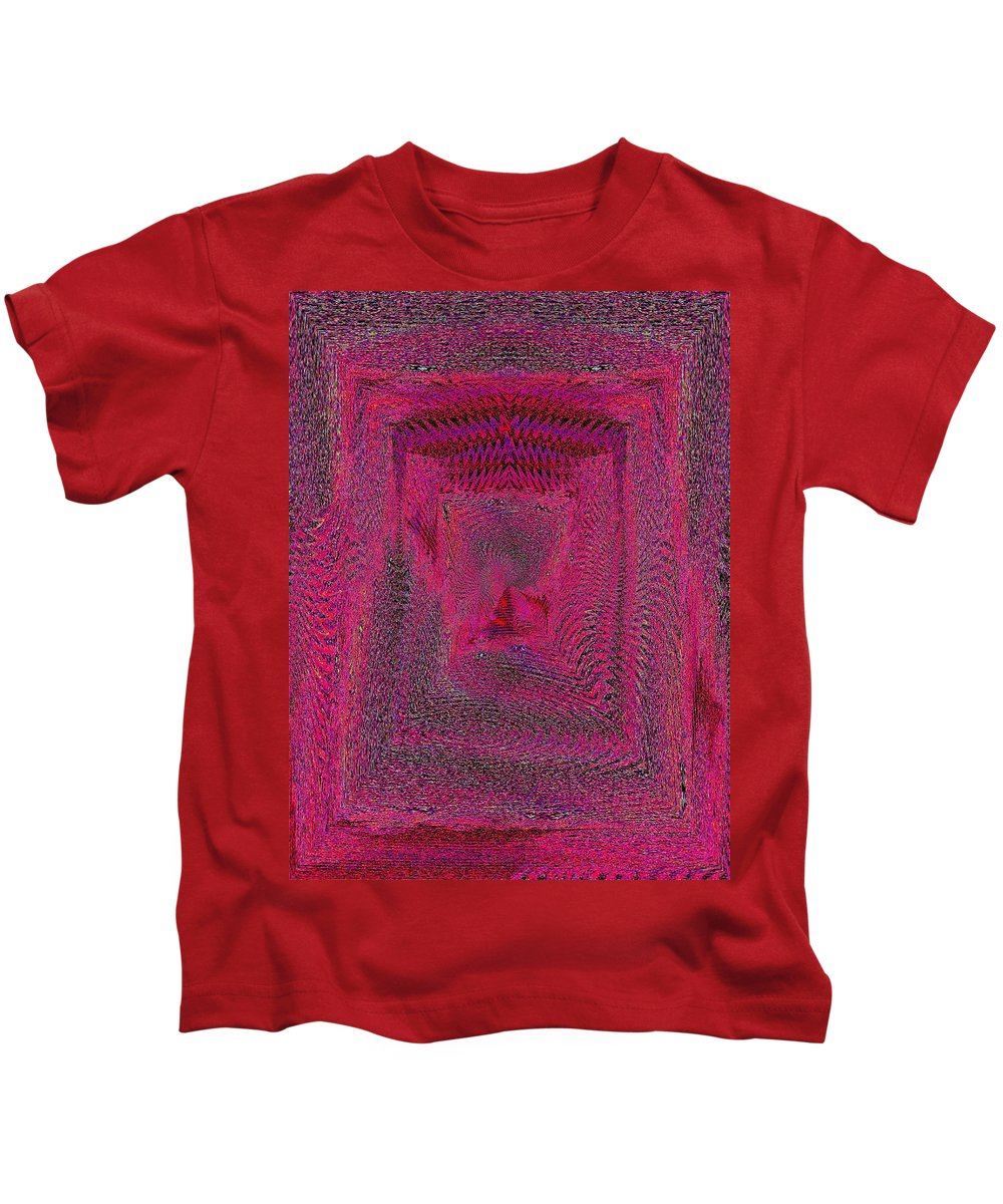 Abstract Kids T-Shirt featuring the digital art Ripples In Red by Tim Allen