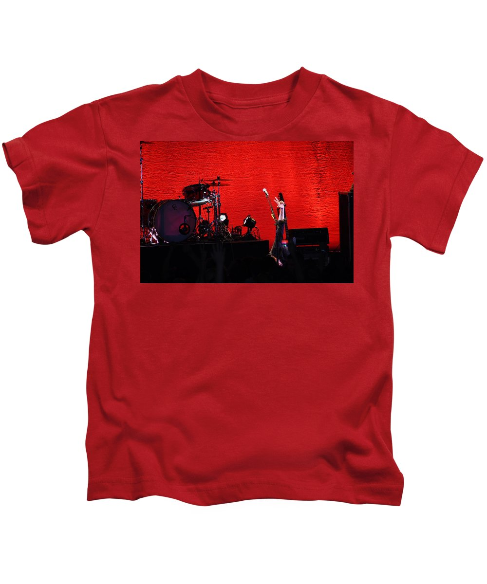 Kids T-Shirt featuring the photograph Rock Out by Karis Tsolomitis