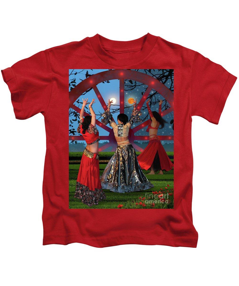 Romani Dance Kids T-Shirt featuring the photograph Romani Dance by Mira Ostojic