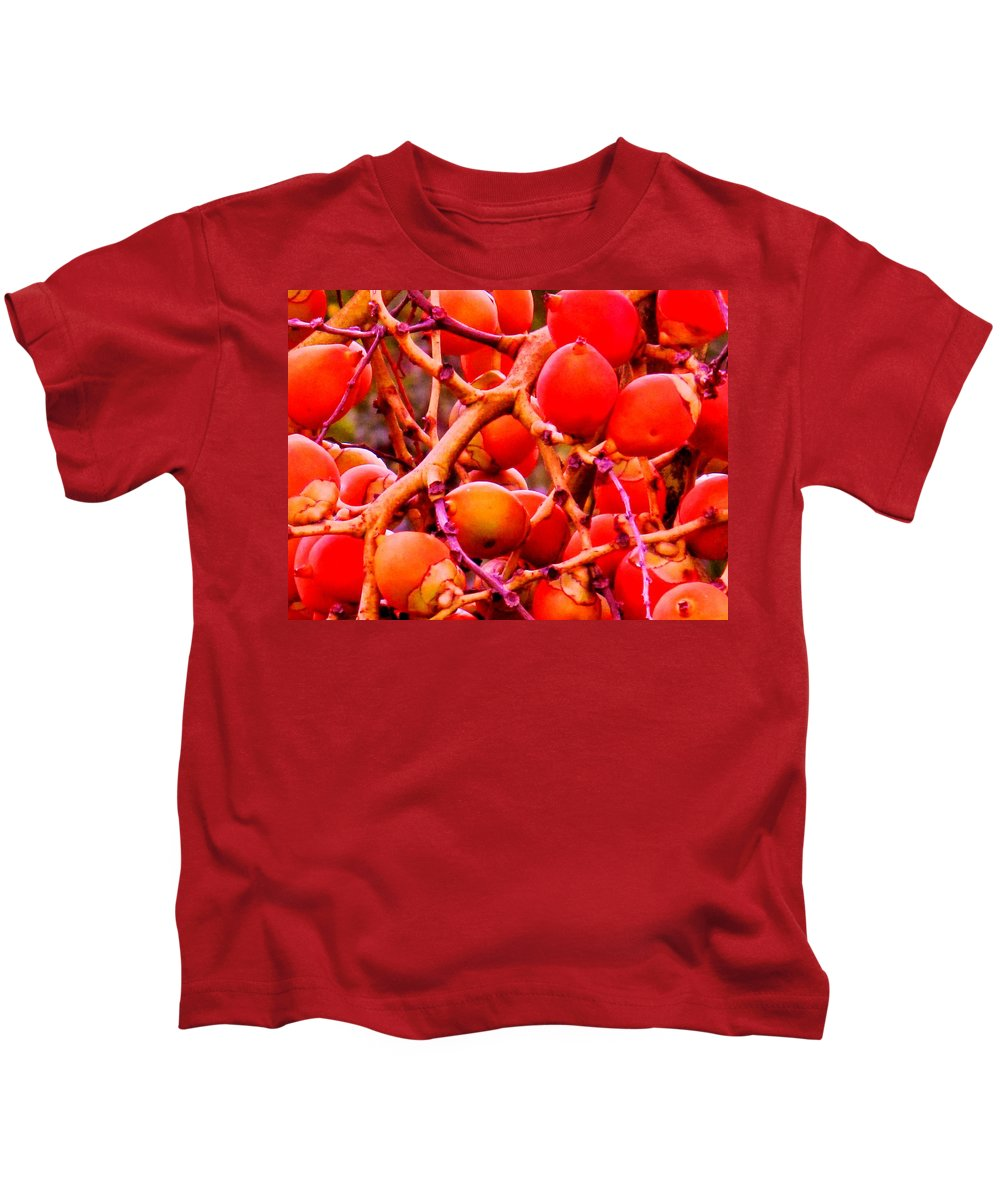 Red Kids T-Shirt featuring the photograph Romney Red by Ian MacDonald
