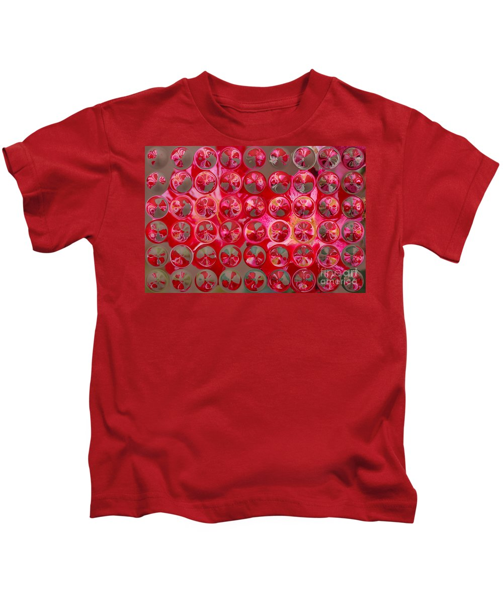 Bubbles Kids T-Shirt featuring the photograph Rose Bubbles by Donna Bentley