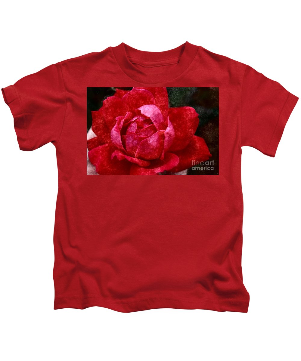 Red Rose Kids T-Shirt featuring the photograph Roses Are Red by Donna Bentley