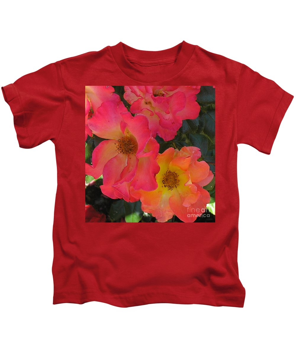Rose Kids T-Shirt featuring the photograph Roses by Dean Triolo