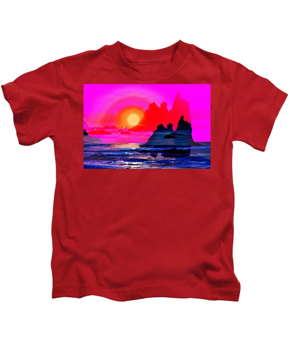 Spain Kids T-Shirt featuring the photograph Ruby Red Levitation by Jean-luc Bohin