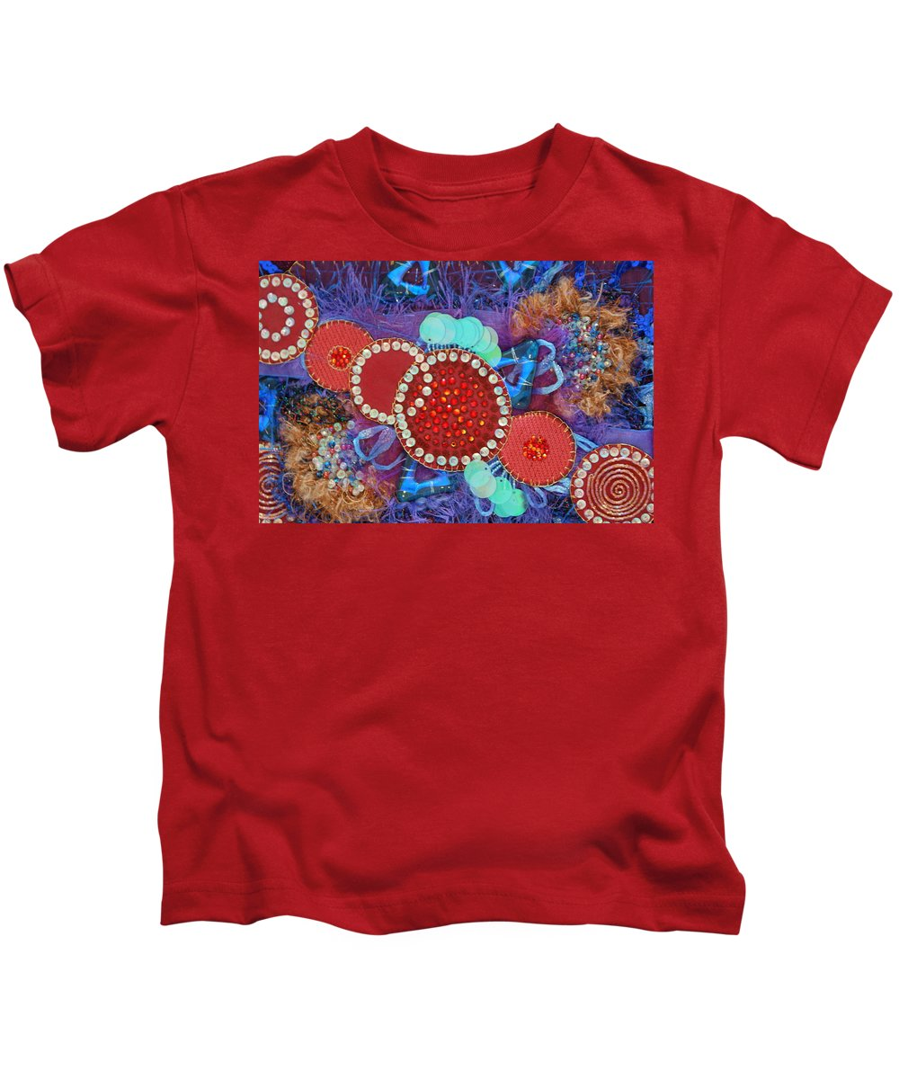 Kids T-Shirt featuring the mixed media Ruby Slippers 2 by Judy Henninger