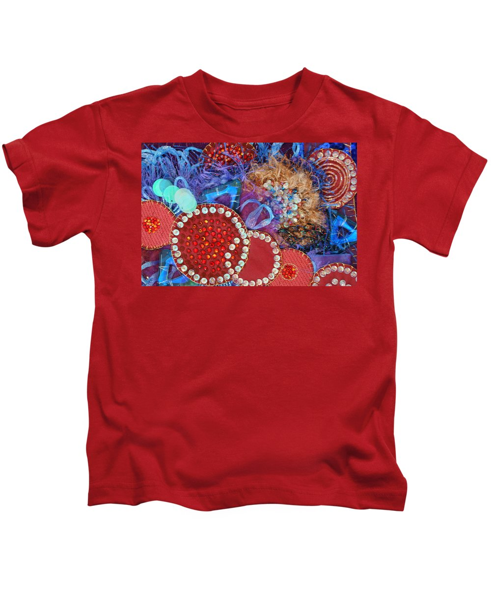 Kids T-Shirt featuring the mixed media Ruby Slippers 3 by Judy Henninger