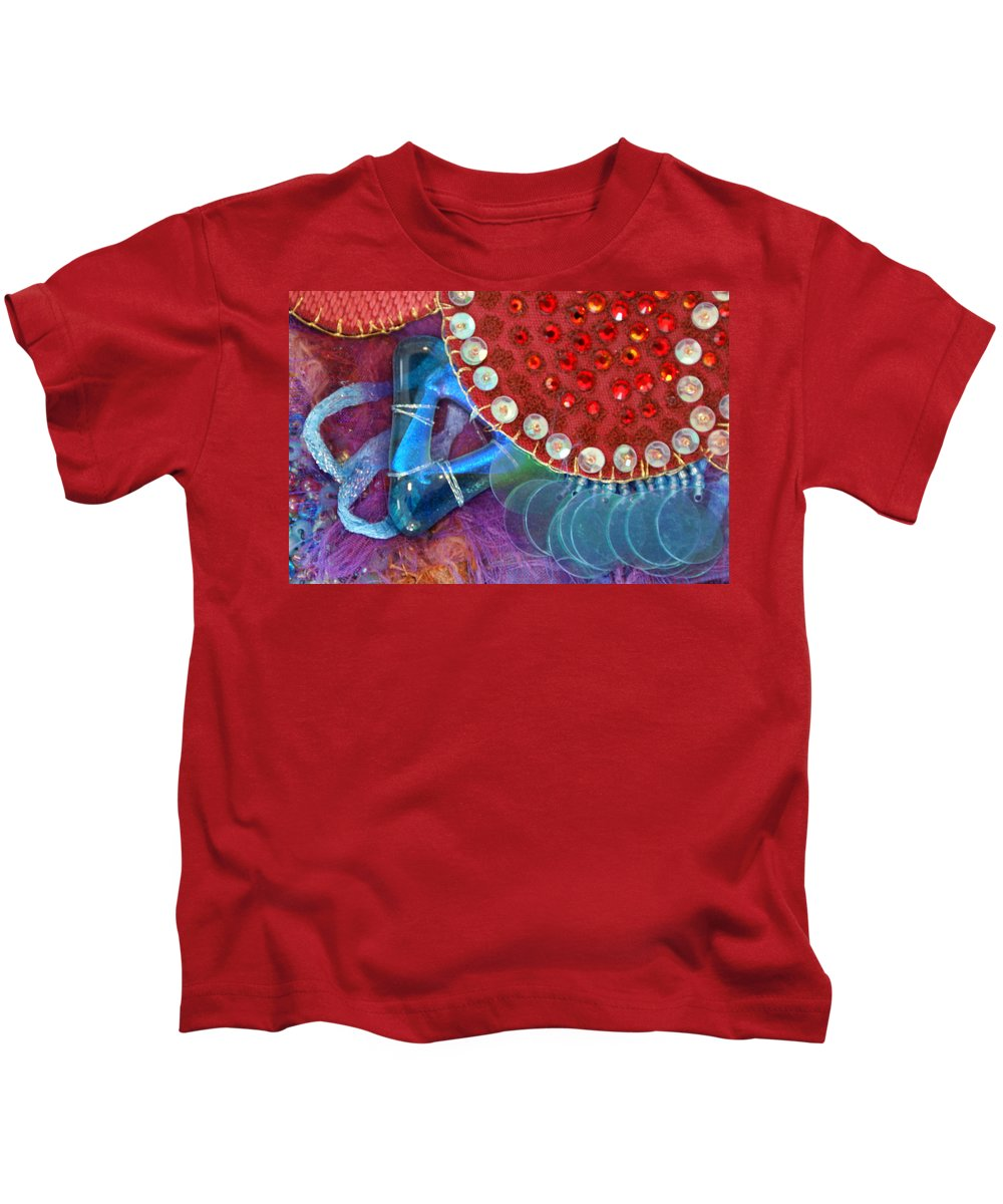 Kids T-Shirt featuring the mixed media Ruby Slippers 4 by Judy Henninger