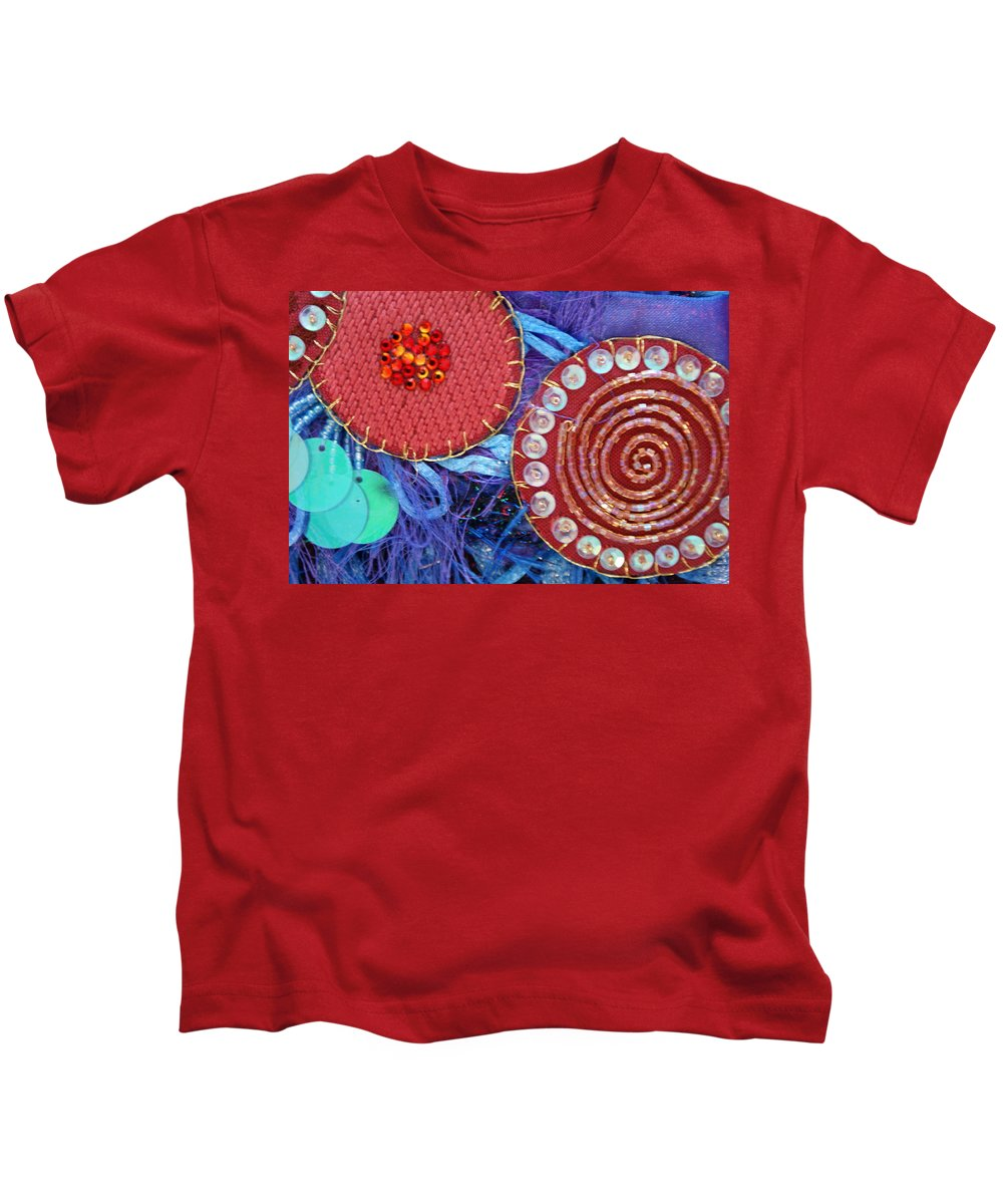 Kids T-Shirt featuring the mixed media Ruby Slippers 5 by Judy Henninger